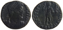 Ancient Coins - VALENTINIAN I. (AD 364-375) AE3, 2.48g.  Thessalonica. RESTITVTOR REIP