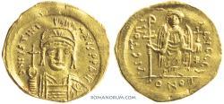 Ancient Coins - JUSTINIAN I. (AD 527-565) Solidus, 4.04g.  Constantinopolis.