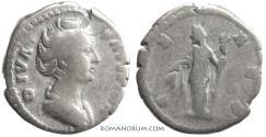 Ancient Coins - FAUSTINA SENIOR. (AD 138-141) Denarius, 3.15g.  Rome. Ceres