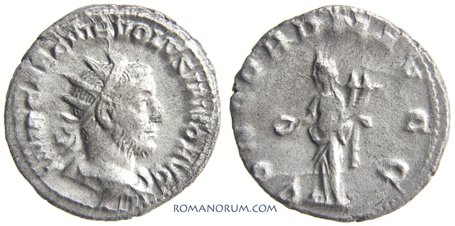 Ancient Coins - VOLUSIAN. (AD 251-253) Antoninianus, 3.39g.  Antioch.