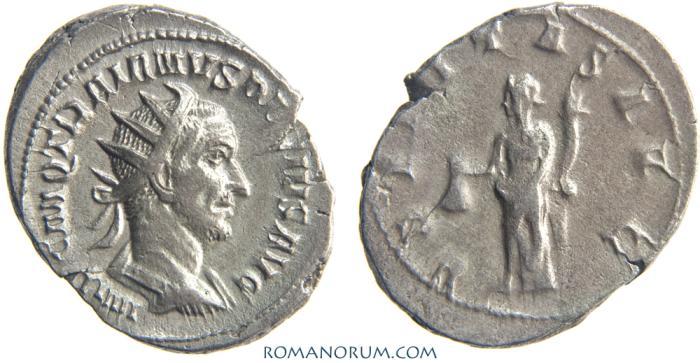 Ancient Coins - TRAJAN DECIUS. (AD 249-251) Antoninianus, 4.92g.  Rome. VBERITAS AVG