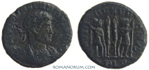 Ancient Coins - CONSTANTIUS II. (AD 337-361) AE3, 3.32g.  Lyon. Actually rare. Featured in wildwinds.com