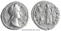 Ancient Coins - SABINA. (Wife of Hadrian; died AD 137) Denarius , 3.15g.  Rome. Possible fourrée