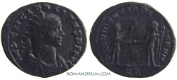 Ancient Coins - TACITUS. (AD 275-276) Antoninianus, 3.04g.  Tripolis. Rare. Not in RIC. Featured in wildwinds.com