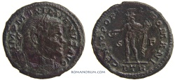 Ancient Coins - MAXIMIANUS. (AD 286-305) Follis, 8.15g.  Trier. GENIO POPVLI