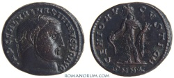 Ancient Coins - MAXIMINUS II Daza. (AD 308-313 ) Follis, 6.91g.  Nicomedia. GENIO AVGVSTI, CMH obverse legend.
