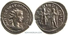 Ancient Coins - VALERIAN II. (AD 256-58) Antoninianus, 3.36g.  Antioch. VICTORIA PART
