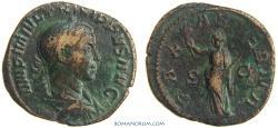 Ancient Coins - PHILIP II. (AD 247-249) Sestertius, 18.04g.  Rome. PAX AETERNA