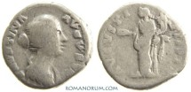 Ancient Coins - FAUSTINA JUNIOR. (Wife of Marcus Aurelius) Denarius, 3.30g.  Rome. AVGVSTI PII. Minted under Pius.
