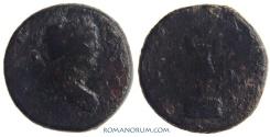 Ancient Coins - TRAJAN. (AD 98-117) Bronze drachm, 6.37g.  Alexandria. Rare.