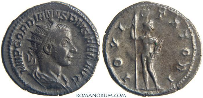 Ancient Coins - GORDIAN III. (AD 238-244) Antoninianus, 4.62g.  Rome. IOVI STATORI
