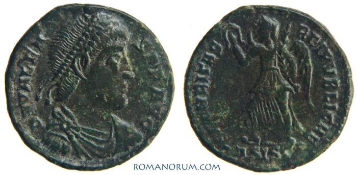 Ancient Coins - VALENS. (AD 364-378) AE3, 2.66g.  Siscia. SECVRITAS REIPUBLICAE