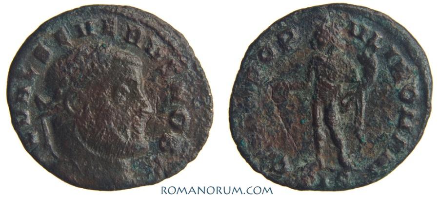 Ancient Coins - SEVERUS II. (AD 305-06) Quarter follis, 1.74g.  Siscia. GENIO POPVLI ROMANI. Formerly rare