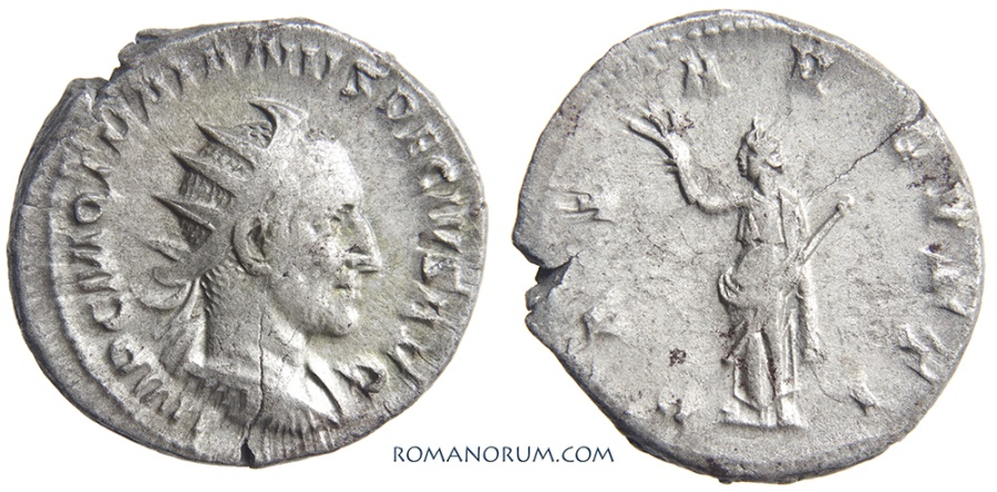 Ancient Coins - TRAJAN DECIUS. (AD 249-251) Denarius, 4.31g.  Rome. Very scarce