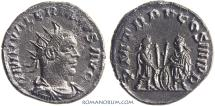 Ancient Coins - VALERIAN. (AD253-260) Antoninianus, 4.38g.  Antioch. Inspired by Augustus' type with grandchildren