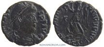 Ancient Coins - VALENS. (AD 364-378) AE3, 2.40g.  Thessalonica. Perhaps re-engraved reverse die.