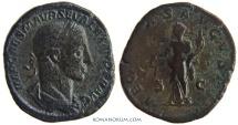 Ancient Coins - SEVERUS ALEXANDER. (AD 222-235) Sestertius, 19.46g.  Rome. AEQVITAS AVGVSTI