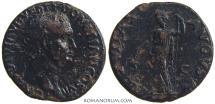 Ancient Coins - DOMITIAN. (AD 81-96) As, 8.74g.  Rome. Rare with this obverse legend.