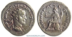 Ancient Coins - VOLUSIAN. (AD 251-253) AR Antoninianus, 3.64g.  Antioch. ROMAE AETERNAE Not terribly common.