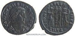 Ancient Coins - CONSTANS. (AD 333-350) AE3, 2.31g.  Thessalonica. Unusual older Constans portrait.