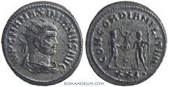Ancient Coins - MAXIMIANUS. (AD 286-305) Antoninianus, 3.94g.  Cyzicus. Silvered
