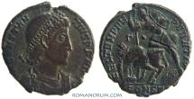 Ancient Coins - CONSTANTIUS II. (AD 337-361) AE2, 6.18g.  Constantinople. Silvering in fields. Wonderful strike.