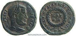 Ancient Coins - LICINIUS. (AD 308-324) AE3, 3.13g.  Ticinum. INVICT AVG Actually rare.