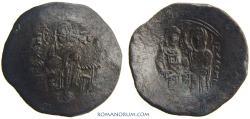 Ancient Coins - MANUEL I COMNENOS. (1143 -1180) Aspron trachy, 3.85g.  Constantinople. MANVHL DECPOT