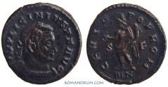 Ancient Coins - LICINIUS. (AD 308-324) Follis, 3.42g.  London. GENIO POP ROM