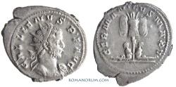 Ancient Coins - GALLIENUS. (AD 253-268) Antoninianus, 5.62g.  Cologne. GERMANICVS MAX Heavy antoninanus.