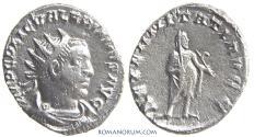 Ancient Coins - VALERIAN. (AD 253-260) Antoninianus, 4.16g.  Antioch. Saturn. Rather scarce.