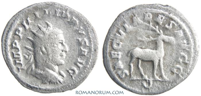 Ancient Coins - PHILIP I, The Arab. (AD 244-249) Antoninianus, 3.37g.  Rome. SAECVLARES AVGG. Stag.