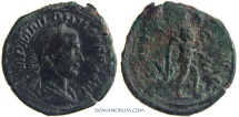 Ancient Coins - PHILIP I, The Arab. (AD 244-249 ) Sestertius, 20.79g.  Rome. VICTORIA AVG