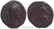 Ancient Coins - COMMODUS. (AD 180-192 ) Dupondius, 10.66g.  Rome. Red patina.