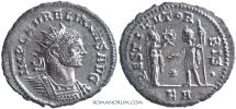 Ancient Coins - AURELIAN. (AD 270-275 ) Antoninianus, 4.04g.  Tripolis. Silvered. Scarce