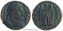 Ancient Coins - CRISPUS. (AD 317-326) AE3, 2.64g.  Arles. PROVIDENTIAE CAESS With Constantine's bust.