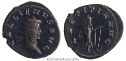 Ancient Coins - GALLIENUS. (AD 253-68) Antoninianus, 3.64g.  Rome LAETITIA AVG Nice dark patina.