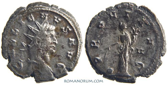 Ancient Coins - GALLIENUS. (AD 253-268) Antoninianus, 4.54g.  Siscia. PROVI AVG. Heavy antoninianus. Mostly silvered.