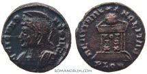 Ancient Coins - CRISPUS. (AD 317-326) AE3, 2.43g.  London. BEAT TRANQLITAS