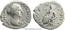 Ancient Coins - FAUSTINA JUNIOR. Denarius, 2.75g.  Rome. Minted under Antoninus Pius. Scarce.