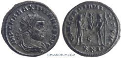 Ancient Coins - MAXIMIANUS. (AD 286-305) Antoninianus, 4.61g.  Cyzicus. Silvered