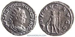 Ancient Coins - VALERIAN. (AD 253-260) Antoninianus, 3.98g.  Antioch. VIRTVS AVGG Very scarce.
