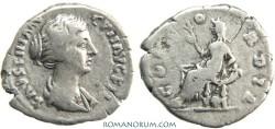 Ancient Coins - FAUSTINA JUNIOR. Denarius, 2.75g.  Rome. Minted under Antoninus Pius. Scarce.