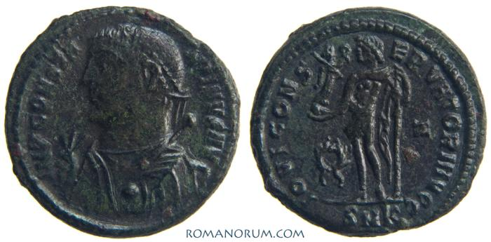 Ancient Coins - CONSTANTINE I, The Great. (AD 306-337) Follis, 3.86g.  Cyzicus. IOVI CONSERVATORI