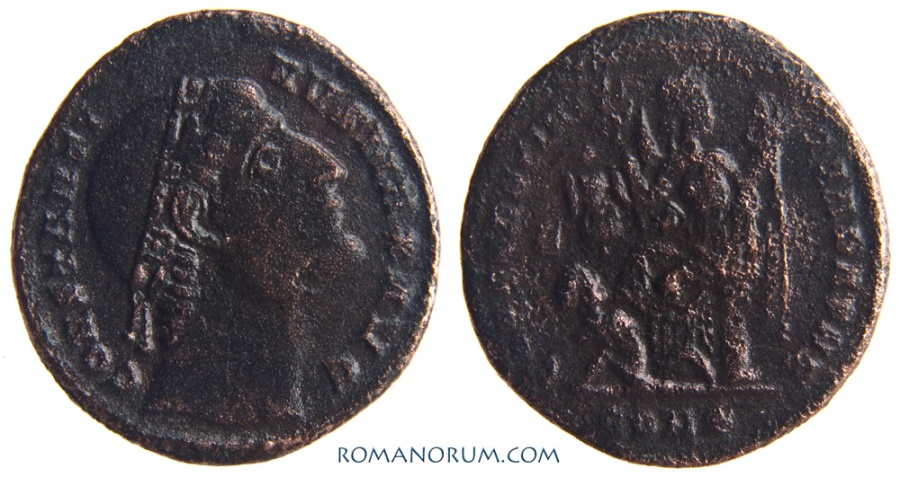 Ancient Coins - CONSTANTINE I, The Great . (AD 306-337) AE 3, 2.50g.  Constantinopla. CONSTANTINIANA DAFNE