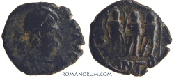 Ancient Coins - ARCADIUS. (AD 383-408) AE4, 1.06g.  Antioch. Three Emperors.