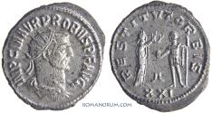 Ancient Coins - PROBUS. (AD 276-282) Antoninianus, 4.06g.  Antioch.