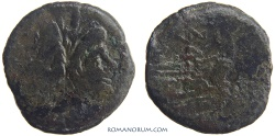 Ancient Coins - Post-Reform As. Valeria. (169-157 BC) As, 18.81g.