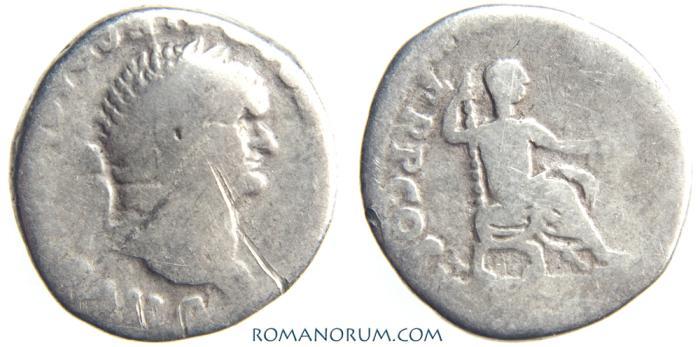 Ancient Coins - VESPASIAN. (AD 69-79) Denarius, 2.94g.  Rome. PON MAX