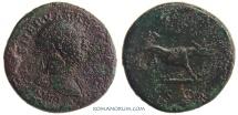 Ancient Coins - TRAJAN. (98-117 A.D.) Quadrans, 3.01g.  Rome. She-wolf